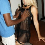 My lustful slut wife at home with her black lover