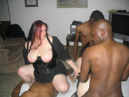 Interracial slut party