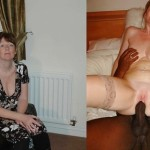 Previous to and after a woman discovers the enjoyment of black pecker.