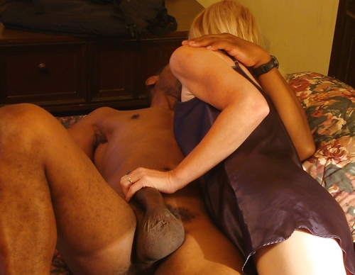 Mature white wife black cock