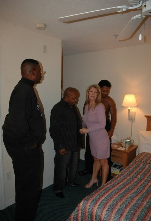 Blonde White Wife with Black Men  Homemade Interracial