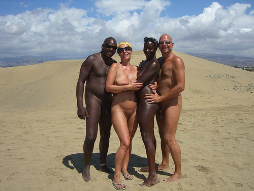 That would Interracial group nude sunbathing pictures