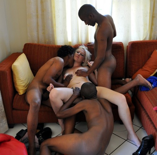 Interracial slave slut