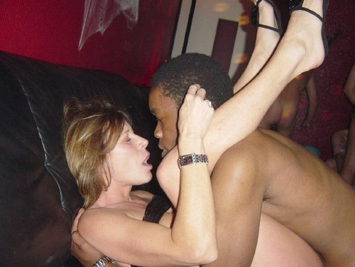 Amateur Milf With First Black