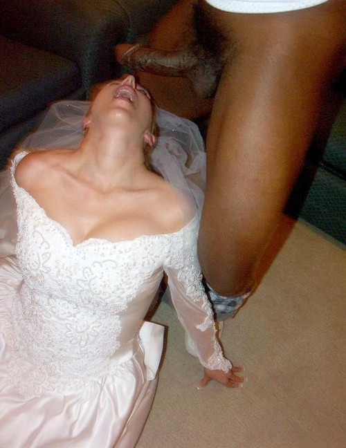Black cock fucking bride on wedding night