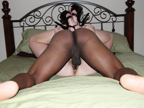 Wife with bbc locked hubby watches 4