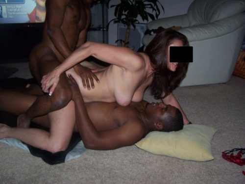 Hot amateur interracial sex in my new house