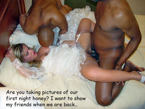 night Interracial wedding