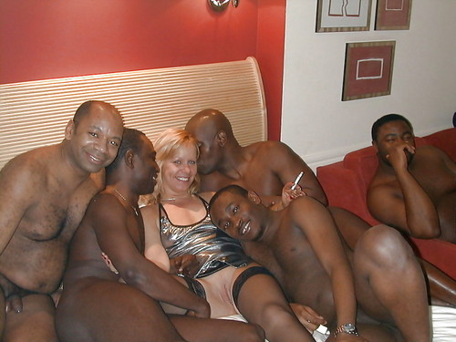 gangbang Mature amateur interracial