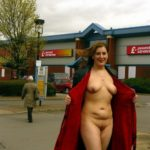 Another UK shopping midst flasher, pleasing.