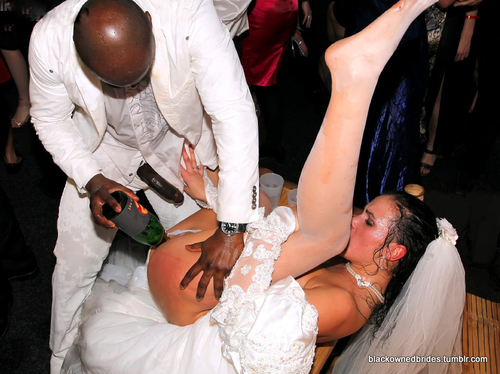 interracial wedding day fuck forced