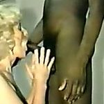 White golden-haired mature lady is kinky for my dark dick