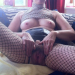 Anonymous submission.A couple of my  slutty wife Liz in Fishnets showing…