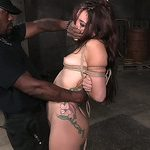 Beautiful white gal tied and facefucked with fingers