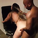Blonde haired tattooed MILF with big rack goes interracial for a worthy head