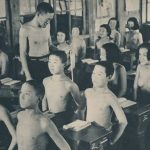 School in wartime Japan conducted naked lessons