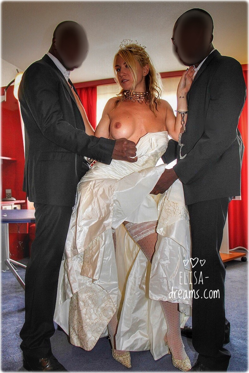 My  dirty slut wife and her wedding witnesses