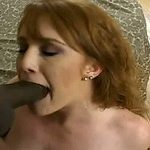 Redhead messy white gal gobbles BBC and gets ejaculation in her face hole