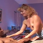 This golden-haired MOTHER I'D LIKE TO FUCK is one experienced seductress who likes dark dongs