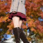 Female thighs fetish photographer Yuria makes comeback with autumn-themed exhibition
