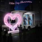 Soft on Demand installs Magic Mirror Car porn truck with VR adult content and bicycles for White Day illuminations