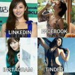 The Japanese gravure idol version of the LinkedIn, Facebook, Instagram, Tinder meme