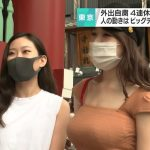 Netizens go wild for busty beauties interviewed about coronavirus on Tokyo streets