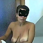 Breasty Italian mother I'd like to fuck housewife masked blows and rides me on top